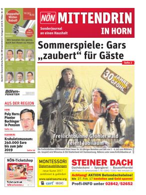Titelblatt NÖN Postwurf Horn