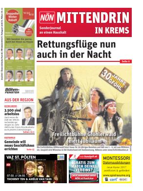 Titelblatt NÖN Postwurf Kremser