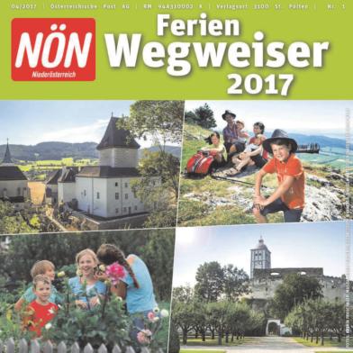 Titelblatt NÖN Ferienwegweiser Niederoesterreich