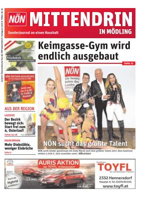 Titelblatt NÖN Postwurf Moedling