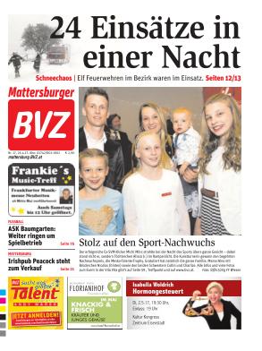 Titelblatt BVZ Mattersburg
