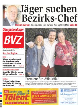 Titelblatt BVZ Oberpullendorf