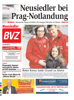 Titelblatt BVZ Neusiedl