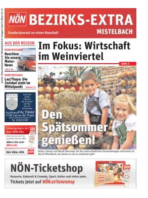 Titelblatt NÖN Postwurf Mistelbach