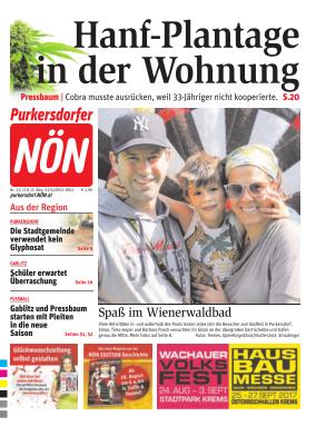 Titelblatt NÖN Purkersdorf