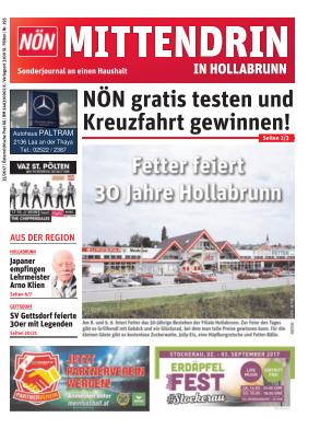 Titelblatt NÖN Postwurf Hollabrunner