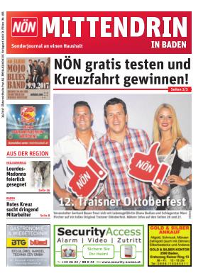 Titelblatt NÖN Postwurf Badener