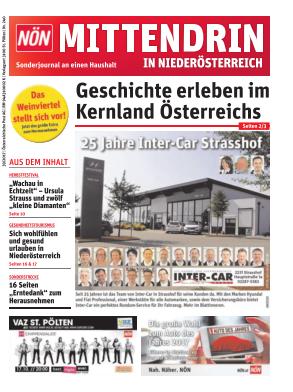 Titelblatt NÖN Mittendrin in NÖ - Weinv