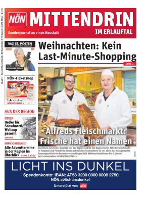 Titelblatt NÖN Postwurf Erlauftal