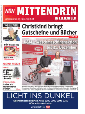 Titelblatt NÖN Postwurf Lilienfeld