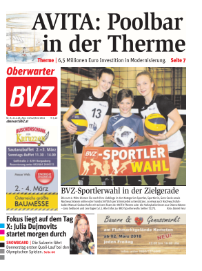 Titelblatt BVZ Oberwart