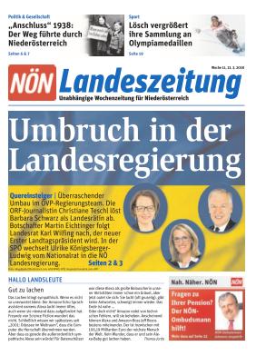 Titelblatt NÖN NOEN Landeszeitung