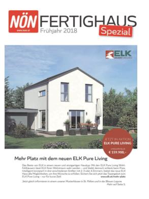 Titelblatt NÖN NOEN Landeszeitung Fertighaus