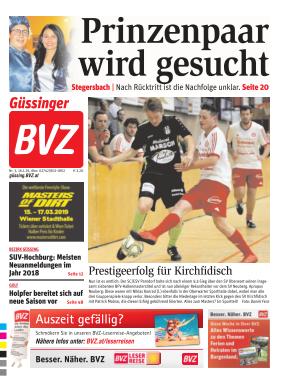 Titelblatt BVZ Güssing