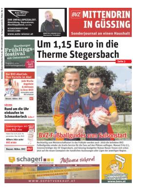 Titelblatt NÖN Postwurf Güssinger