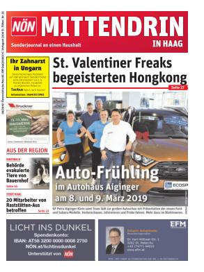 Titelblatt NÖN Postwurf Haag