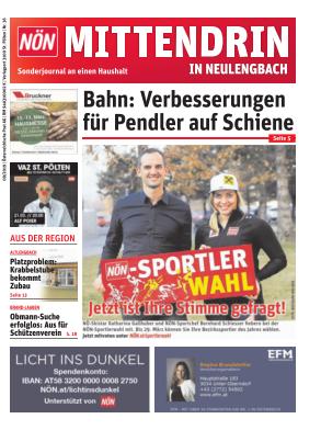 Titelblatt NÖN Postwurf Neulengbach