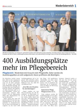 Titelblatt NÖN NOEN Landeszeitung Postwurf