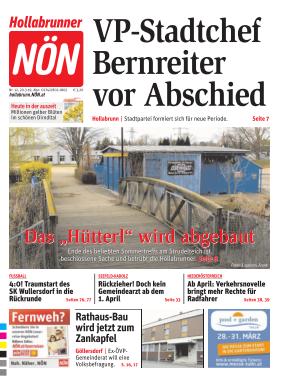 Titelblatt NÖN Hollabrunn