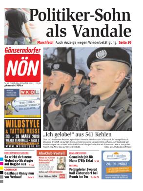 Titelblatt NÖN Gaenserndorf
