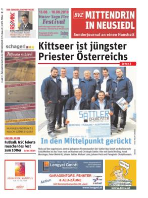 Titelblatt NÖN Postwurf Neusiedler