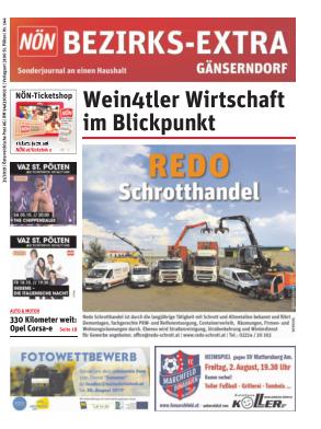 Titelblatt NÖN Postwurf Gaenserndorf