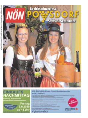 Titelblatt NÖN Extra Mistelbach