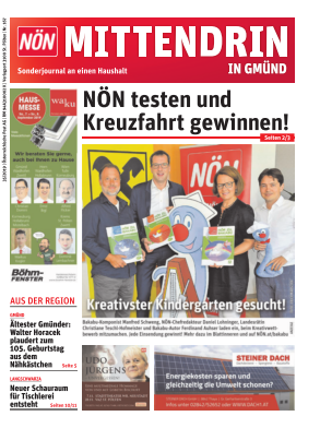 Titelblatt NÖN Postwurf Gmuend