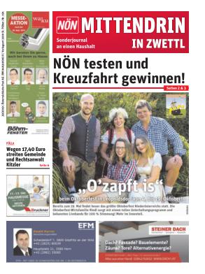 Titelblatt NÖN Postwurf Zwettl